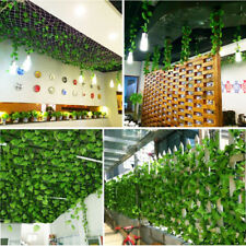 Artificial Ivy Leaf Garland Plants Vine Fake Foliage Flowers Home Decor 2.2M HWZ