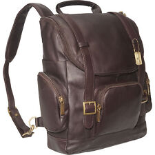 Claire Chase Portofino Computer Leather Backpack, Laptop Bag