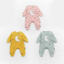 Newborn Infant Clothing Baby Rompers Jumpsuit Star And Moon Smiling Long Sleeves