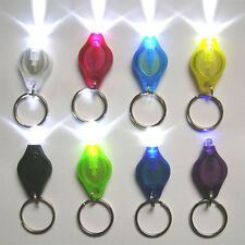 New Mini Bright LED Micro Light Keychain Squeeze Light Key Ring Camping