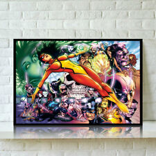 HD Print Oil Painting Home Deco on Canvas Spider Woman Multiple Size Options