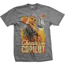 Han Solo Movie Chewie is my Copilot Official Star Wars Story Grey Mens T-shirt