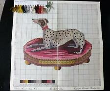 Elizabeth Bradley Victorian THE SPOTTED DOG Needlepoint Chart/Yarn Color Card