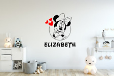 Minnie Mouse Wall Decal / Minnie Mouse Name Decal / Disney Decal / Disney Decor