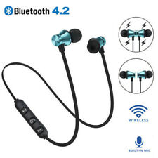 Bluetooth 4.2 Wireless Earphone Magnetic Sport Running Headset w/Mic Universal J