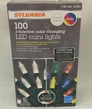 Sylvania Christmas Lights 3-function Color Changing Warm White Multi Color Conne
