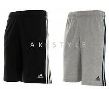 Mens Adidas Performance 3 Stripes Essential Shorts Black/Navy & Grey S_M_L_XL