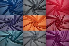 """Chiffon Knit Sheer 60"""" Wide 100% Polyester Sewing Dress Fabric 17 Colors BTY"""