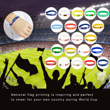 2018 FIFA World Cup Country Nation Flag Silicone Bracelet Rubber Sport Wristband
