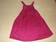 Bonnie Jean Dark Pink Embroidery Floral Dress For Girls Sz 12/14  - NWT $54