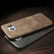 Vintage Ultra-thin Back Leather Case Cover Skin For Samsung J/A 3 iPhone 5 6 7 8