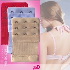 10× 3 Hooks Elastic Bra Buckle Extender Extension Underwear Strap Replacement