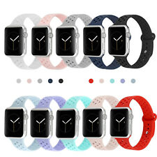 Replacement Silicone Sport Band Strap For Apple Watch iWatch Series 3/2/1 42 38