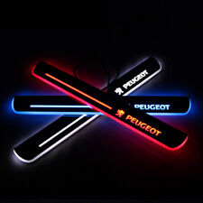 LED Car Door Sill Scuff Plate Guards Welcome Lights For Peugeot 3008 2013-2017