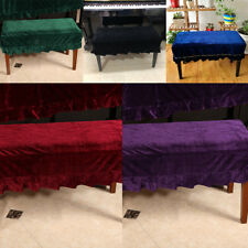 1-Seater/ 2-Seater Piano Stool Chair Bench Cover Dust Sleeve with Macrame PICK