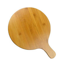 Bamboo Pizza Tray Serving Food Snack Dishes Salad Plates Dishes With Handle