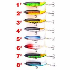 1pc fishing lure 13g/10cm topwater rotating tail vmc hooks bass fishing baits FL