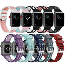 iWatch Bracelet Silicone Sport Band Strap Replacement For Apple Watch 38mm 42mm