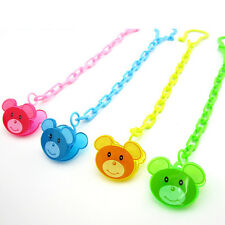 Cartoon Baby Dummy Pacifier Soother Nipple Chain Clip Buckle Dummy Holder LS