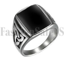 Stainless Steel Vintage Celtic Cross Irish Knot Men Wedding Ring Band Size 7-13