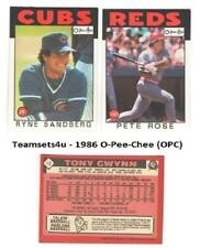 1986 O-Pee-Chee (OPC) Baseball Set ** Pick Your Team **