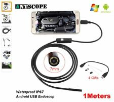 7mm/5.5mm 1M Endoscope Waterproof Snake Borescope USB Inspection Min Camera 6LED