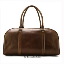 Men Leather Travel Genuine Weekend Large Business Bag Duffle Overnight Luggage