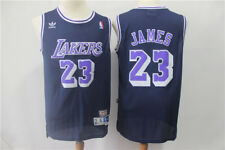 Los Angeles Lakers #23 LeBron James Retro Basketball Jersey Dark Blue