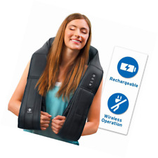 Etekcity Neck Back Shoulder Shiatsu Massager with Heat, Cordless Rechargeable to