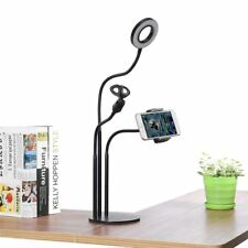 Universal Live Stream Fill Light Desktop Phone Holder Microphone Stand for