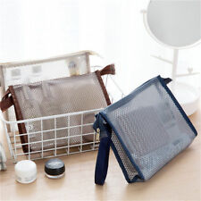 Fashion Travel Mesh Zipper Wallet Case Cosmetic Wash Storage Bag Makeup Pouch