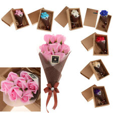 7pcs Soap Rose Soap Flower Petal with Gift Box For Wedding Valentines Day
