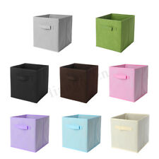 Foldable Fabric Storage Bin Collapsible Cube Box Home Office Clothes