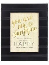 You are my Sunshine Black with Gold Trim 8 x 10 Framed Wall Art Plaque