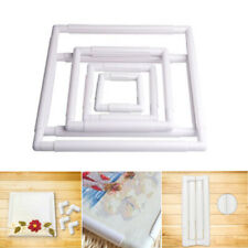 Plastic Handhold Square Rectangle Embroidery Frame Cross Stitch Hoop Craft
