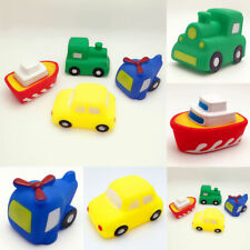 Plane Bath Toy Toy Boat Train Sqeeze Rubber Toddler Floating Squeaky Vehicles