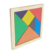 Wooden Tangram Puzzle Early Educational Toy Jigsaw Puzzle Birthday Gift for Kid