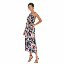 Boho sundress chiffon party dress evening maxi long cocktail floral Women's