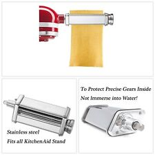 Kitchen Pasta Roller Attachment Kitchenaid Stand Mixer Stainless Steel Mixer