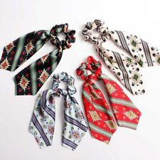 Ponytail Scarf Bow Elastic Hair Rope Tie Scrunchies Ribbon Hair Band Accessories