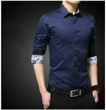 Tops Luxury Shirt Slim Fit Business Casual Stylish Fashion Dress Shirts