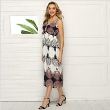 Floral Cocktail Beach Party Summer Sundress Evening Boho Maxi Women Dress Long