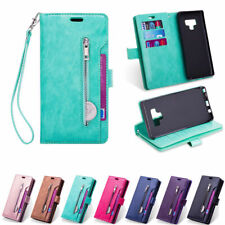 For Samsung Note10/10 Plus S10 S9 Multifunction Zipper Leather Wallet Case Cover
