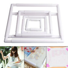 HN- DV_ Plastic Frame Embroidery Cross Stitch Sewing Stand Lap DIY Accessories E