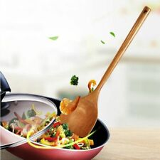 Long Wooden Cooking Rice Spatula Scoop Kitchen Hand Wok Shovel Utensil Non-stick