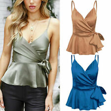 Summer Women Spaghetti Tops V-Neck Vest Casual Ladies Blouse Tee Fashion T-Shirt