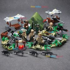US Military Soldiers Army + Weapon World War Desert for Lego Ninjago Minifigures