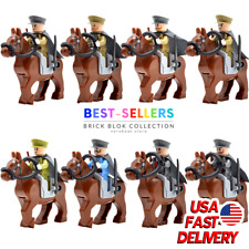 WW2 Army Officers War Horse US Military Soldiers Minifigures For Building Blocks