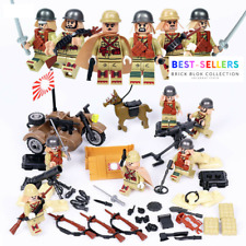 WW2 Military Japan Soldiers Japanese Army+Weapon Minifigures Building Blocks