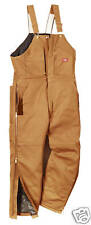 dickies mens insulated winter work bib overalls S-4XL !